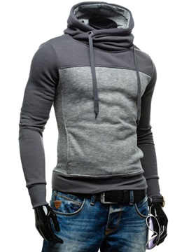 Patchwork Pullover Casual Mens Hoodie