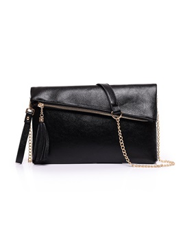 Chic Folded With Tassel Womens Shoulder Bag