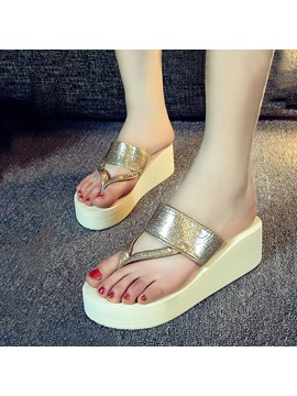 Sequins Thong Beach Sandals