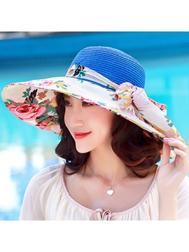 Bohemian Printed Uv Protection Women Sun Hat