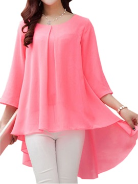 Stylish Big Hem Chiffon Blouse