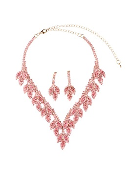 Graceful Rhinestones Decorated Women Jewelry Set