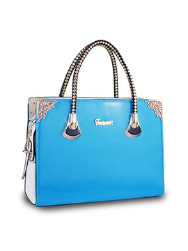 Candy Color Womens Top Handle Bag