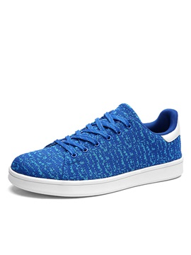 Breathable Mesh Lace Up Skater Shoes
