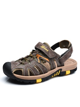 Closed Toe Velcro Beach Sandals For Men