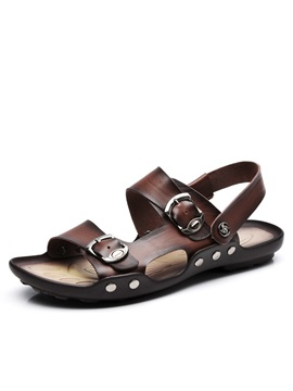 British Buckles Mens Beach Sandals