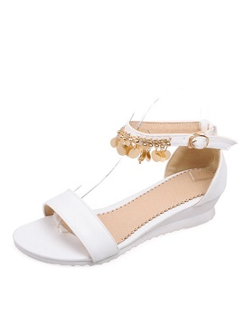 Sweet Pu Sequins Wedge Sandals