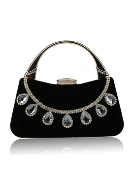 Shining Rhinestone Decorated Womens Handbag