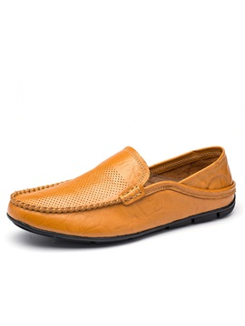 Breathable Pu Slip On Driving Shoes