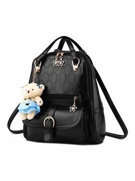 Cute Pendant Decorated Embossing Womens Backpack