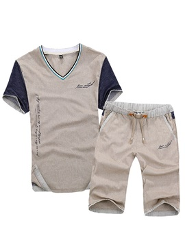 V Neck Mens Short Sleeve Outfits