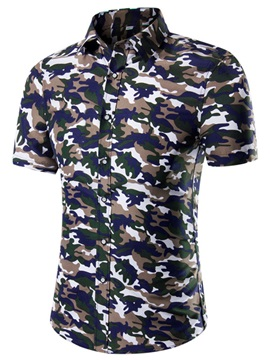 Camouflage Mens Short Sleeve Shirt