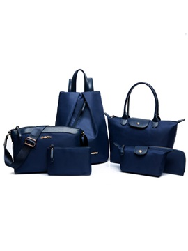 Fashion Nylon Womens Bag Set Six Bags