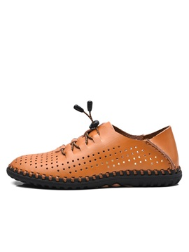 Pu Hollow Thread Mens Casual Shoes