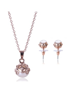 Splendid Pearl Pendant Women Jewelry Set