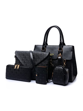 Retro Pattern Printed Womens Bag Set Five Bags