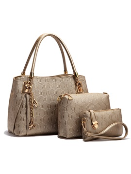 Pattern Printed With Pendant Womens Bag Set Four Bags