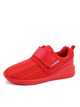 Mesh Hollow Round Toe Velcro Sneakers
