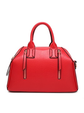 Special Design Double Zipper Womens Satchel