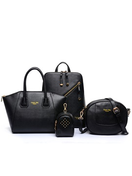 Special Design Pure Color Womens Bag Set Four Bags
