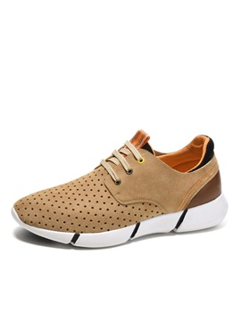 Breathable Round Toe Lace Up Mens Sneakers