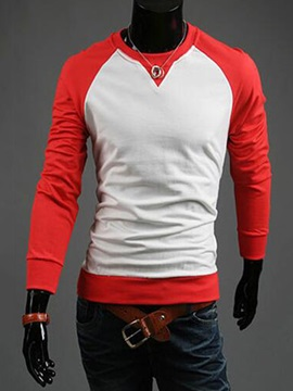 Two Tone Mens Long Sleeve T Shirt
