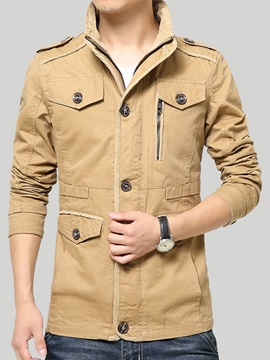 Solid Color Mens Jackets