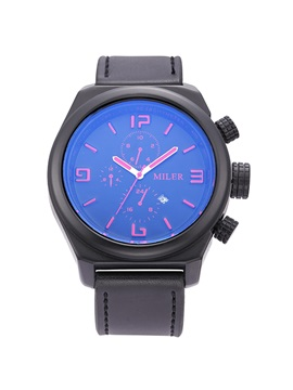 Large Dial Pin Buckle Mens Casual Watch