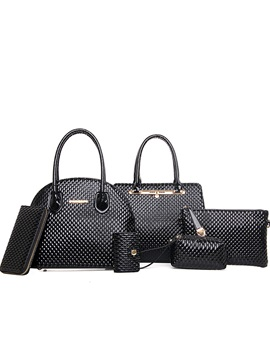Stylish Embossing Womens Bag Set Six Bags