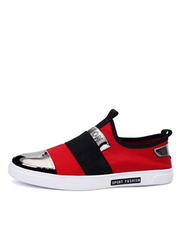 Contrast Color Slip On Skater Shoes