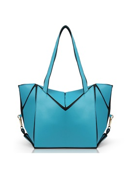 Geometrical Pattern Pure Color Womens Tote Bag