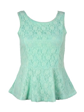Stylish Bowknot Decoration Back Lace Tank Top