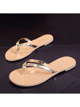 Simple Style Thong Flip Flops