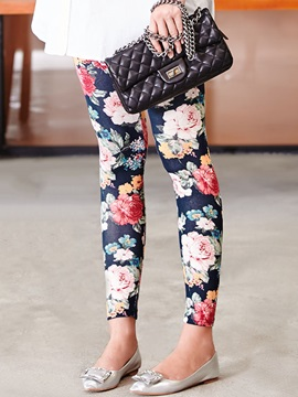 Floral Printing Maternity Leggings