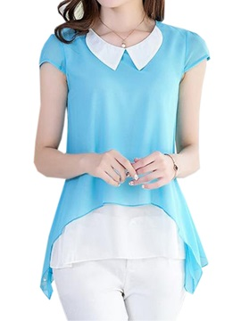 Special Peter Pan Collar Double Layer Blouse