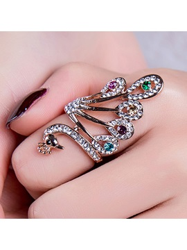 Wonderful Personality Peacock Shaped Ring