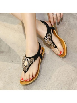 Diamond Thong Elastic Band Sandals
