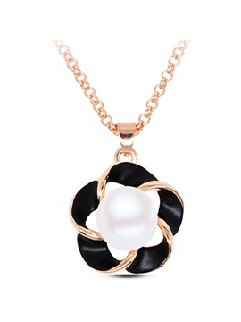 Pearl Flowers All Matching Pendant Necklace