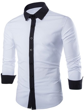 Long Sleeve Mens Two Tone Shirt