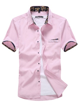 Oxford Floral Patch Mens Causal Shirt