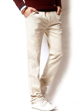Linen Mens Casual Pants