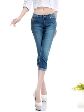 Slim Denim Cropped Jeans