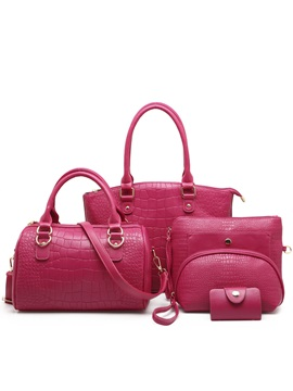 Fashion Pattern Embossing Womens Bag Set Five Bags