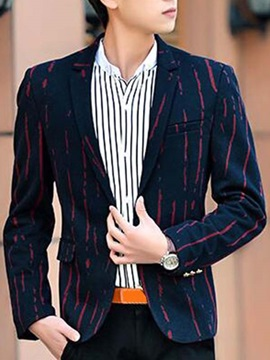 Vogue Stripe Slim Fit Mens Single Button Blazer