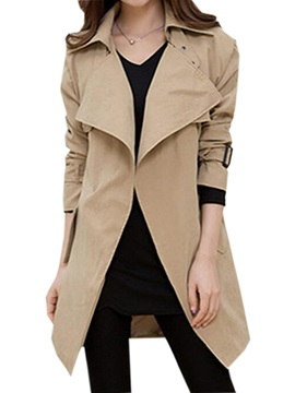 Cool Big Lapel Trench Coat
