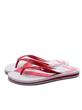 Contrast Color Thong Flip Flops