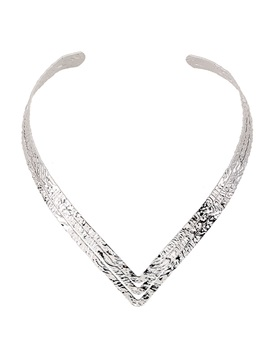 Hot Sale V Shaped Alloy Pattern Necklace