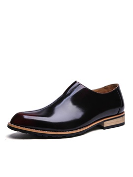 Pu Thread Slip On Dress Shoes