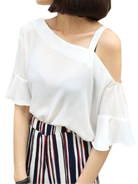 Stylish Asymmetrical Sleeves Short Blouse