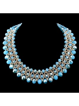 Graceful Crystal Beading Women Necklace